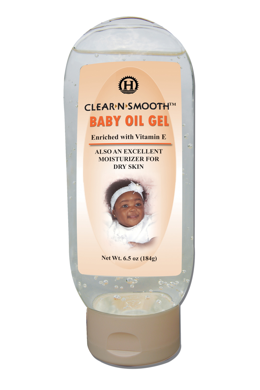 baby oil gel on face